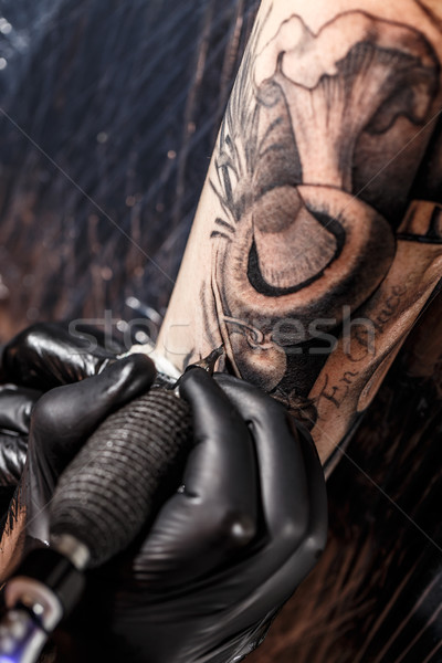Professional tattoo artist Stock photo © grafvision