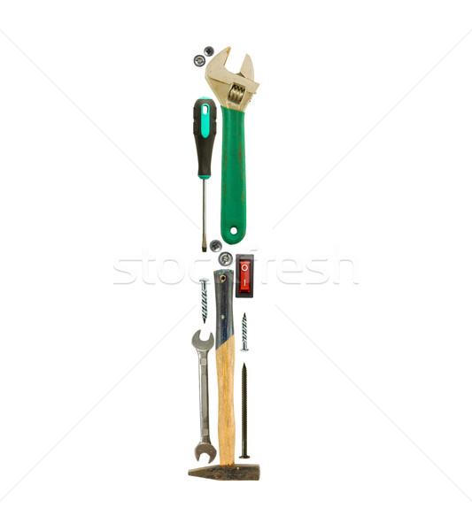 Letter i tools geïsoleerd witte werk brief Stockfoto © grafvision