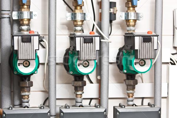 água moderno sala aquecimento metal industrial Foto stock © grafvision