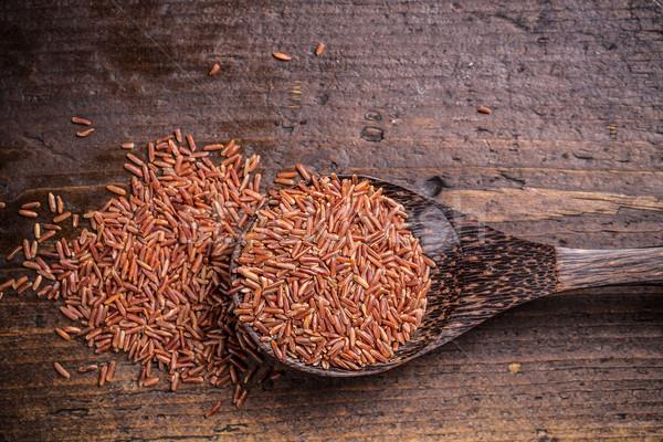 Сток-фото: красный · риса · продовольствие · фон