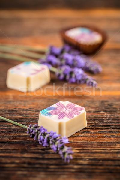 Stock photo: White chocolate truffles