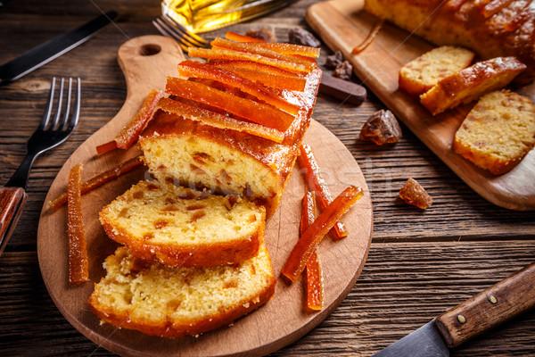 フルーツケーキ オレンジ ケーキ キャンディ ヴィンテージ ストックフォト © grafvision