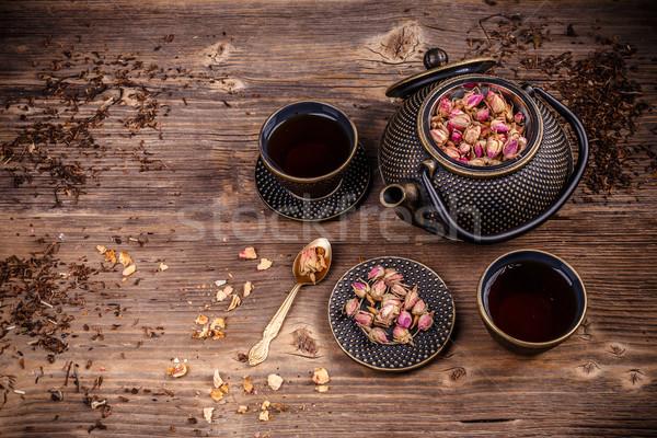 Iron asian style tea set Stock photo © grafvision