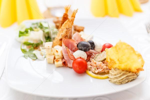 Aperitivo placa elegante boda alimentos Foto stock © grafvision