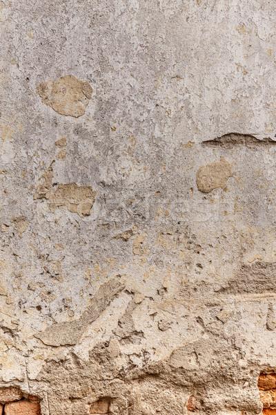 Starych uszkodzony murem gipsu streszczenie tle Zdjęcia stock © grafvision