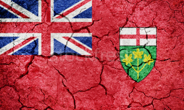 Stock photo: Ontario, province of Canada, flag