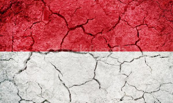Mônaco bandeira secar terra terreno textura Foto stock © grafvision