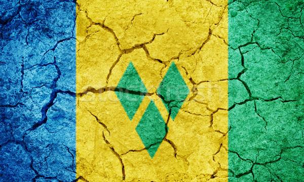 Aziz bayrak kuru toprak zemin doku Stok fotoğraf © grafvision