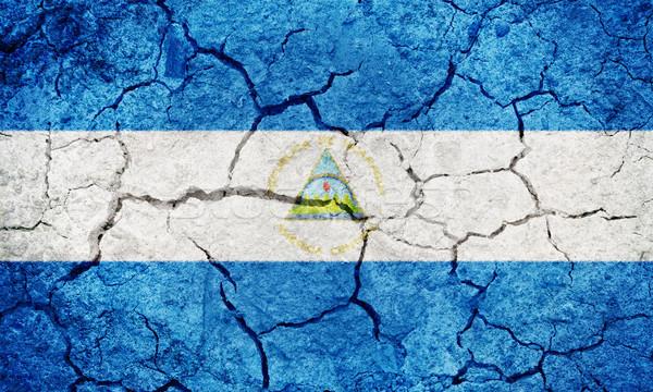 República Nicaragua bandera secar tierra suelo Foto stock © grafvision