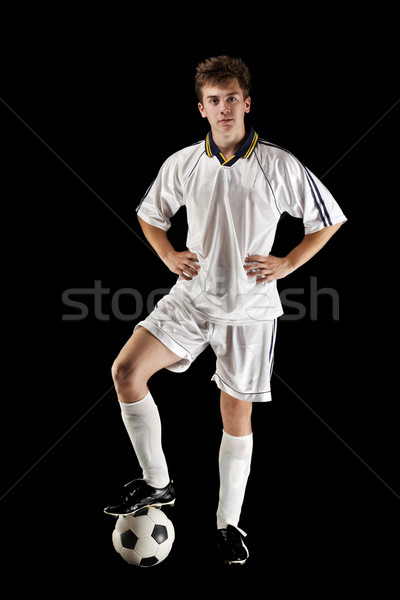 Soccer player whit ball Stock photo © grafvision