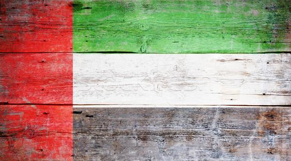 флаг Объединенные Арабские Эмираты окрашенный древесины доска Сток-фото © grafvision