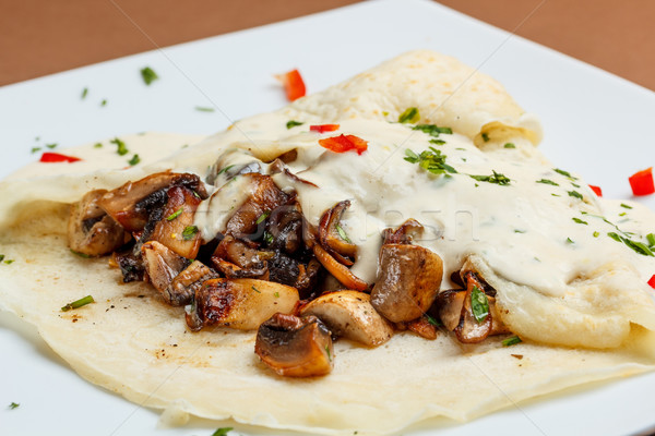 Crepes with mushrooms  Stock photo © grafvision