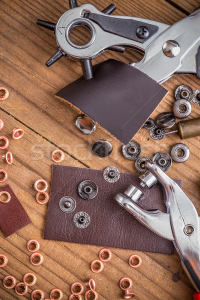 Leather crafting DIY tools Stock photo © grafvision