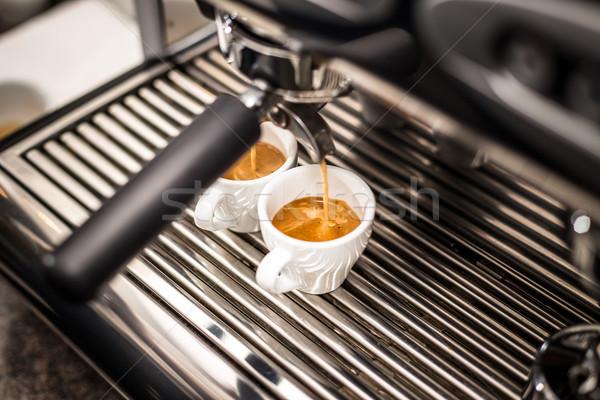 профессиональных эспрессо машина свежие кофе Сток-фото © grafvision