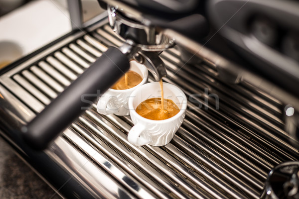 Profesyonel espresso makine taze kahve Stok fotoğraf © grafvision