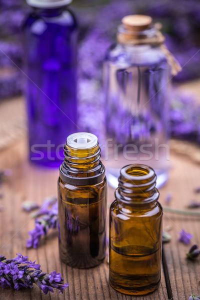 лаванды небольшой бутылку нефть Spa Сток-фото © grafvision