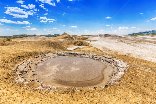Sár vulkán víz föld Romania Stock fotó © grafvision