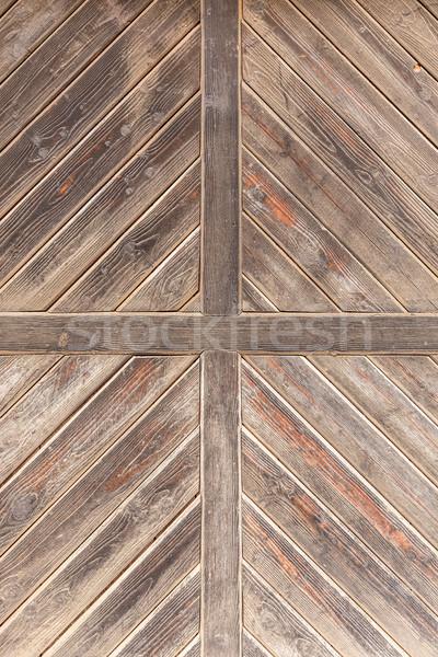 古い木材 ドア クローズアップ 風化した テクスチャ 木材 ストックフォト © grafvision