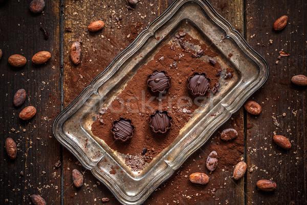 Cchocolate mousse Stock photo © grafvision