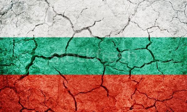 Republika Bułgaria banderą wyschnięcia ziemi ziemi Zdjęcia stock © grafvision