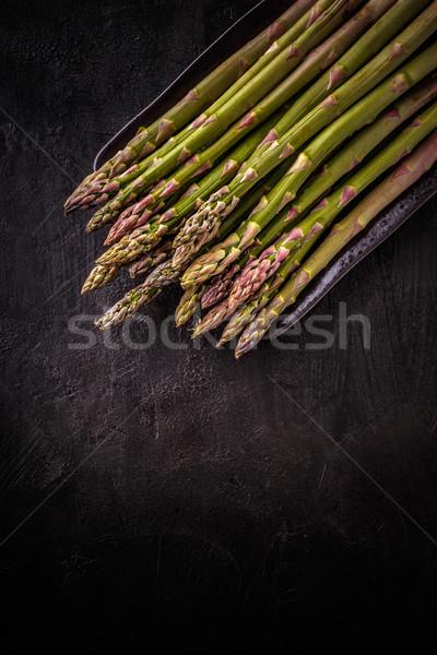 緑 ブランチ 新鮮な バイオ 黒 場所 ストックフォト © grafvision