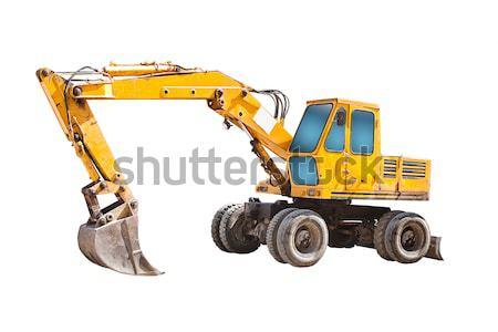 Yalıtılmış traktör eski sarı iş pencere Stok fotoğraf © grafvision