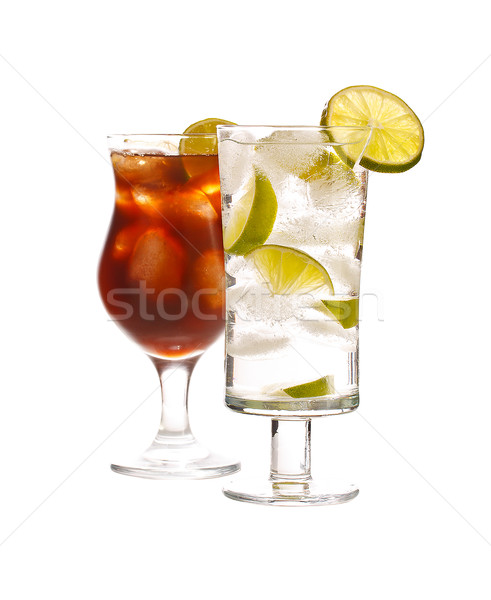 Stock photo: Vodka and cola drink