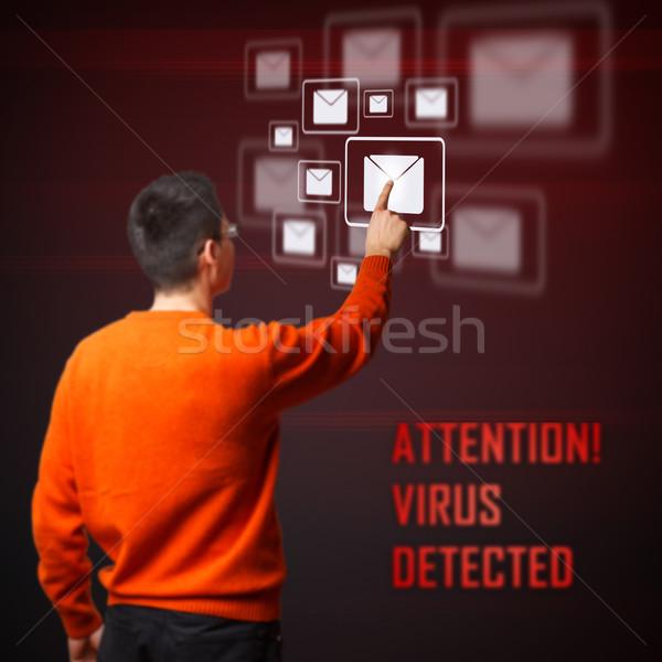Virus detected Stock photo © grafvision