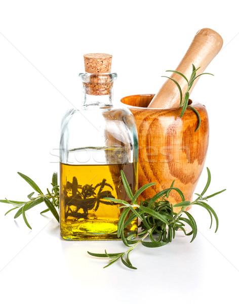 Stock photo: Rosemary oil bottle