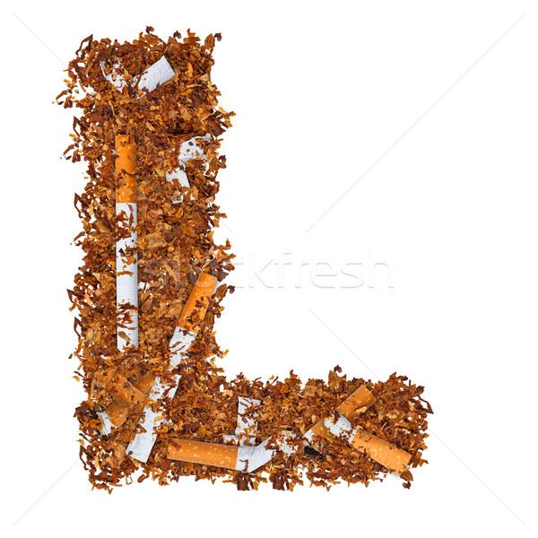 Letter l sigaretten gedroogd roken tabak brief Stockfoto © grafvision