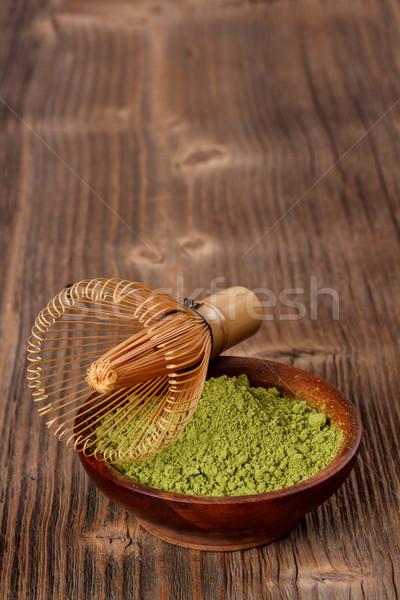 Powdered green matcha tea Stock photo © grafvision