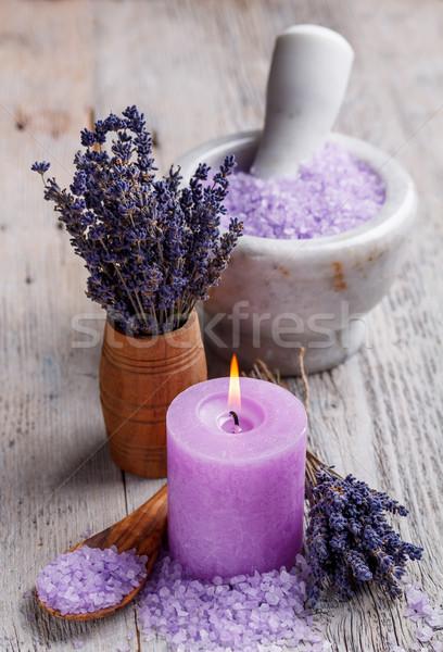 Foto d'archivio: Aromaterapia · lavanda · fiori · aromatico · viola