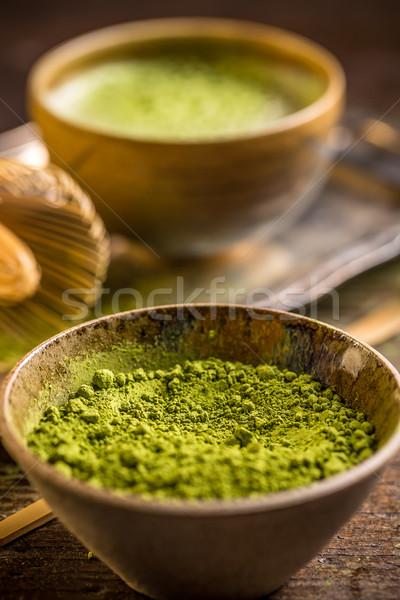 Foto stock: Té · polvo · tazón · beber · ingrediente