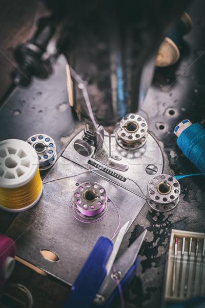 старые швейные машины другой швейных оборудование моде Сток-фото © grafvision