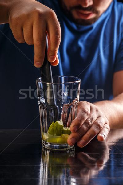 Bartender make a cocktail Stock photo © grafvision