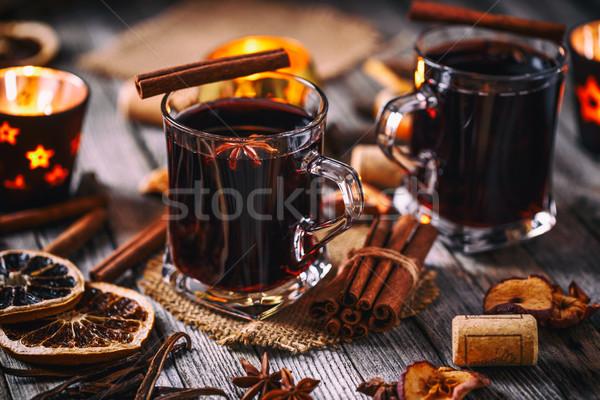 Sıcak şarap tarçın anason Yıldız meyve Stok fotoğraf © grafvision