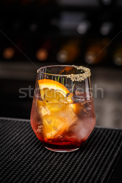 Iced pomegranate and orange drink Stock photo © grafvision