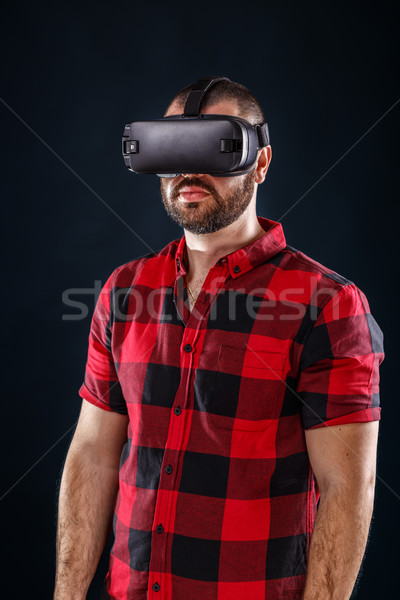 Man using VR Stock photo © grafvision