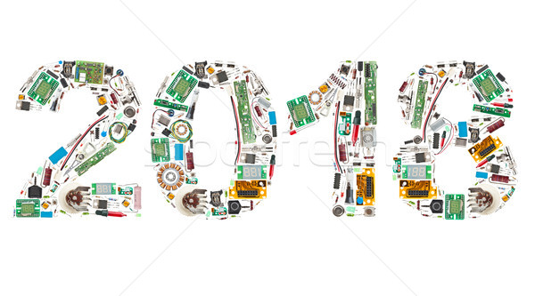 2018 made of electronic components Stock photo © grafvision