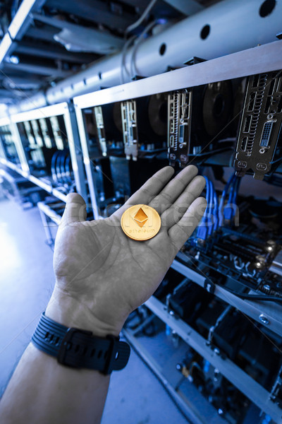 Cryptocurrency mining unit Stock photo © grafvision
