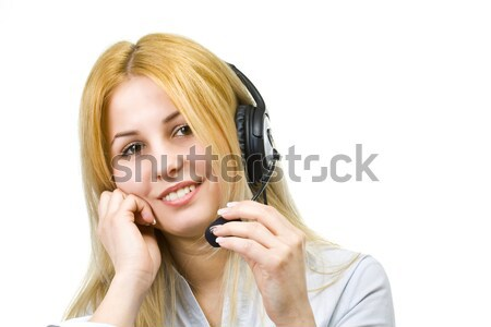 演算子 女性 ビジネス 女性の笑顔 少女 ストックフォト © grafvision