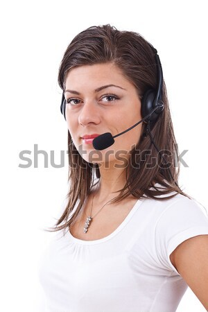 Stock photo: Young female operator