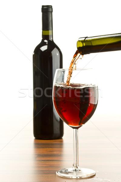 ワイン 赤ワイン ガラス ディナー ボトル 赤 ストックフォト © grafvision