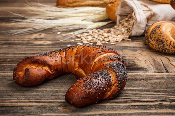 полумесяц мак пшеницы завтрак Сток-фото © grafvision