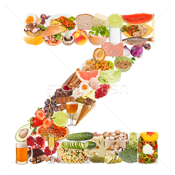 Letter Z made of food Stock photo © grafvision