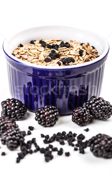 Teljes kiőrlésű müzli reggeli finom egészséges egészség Stock fotó © grafvision