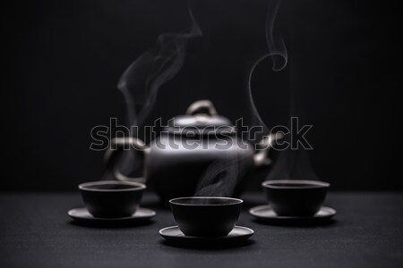 Teapot and teacups  Stock photo © grafvision