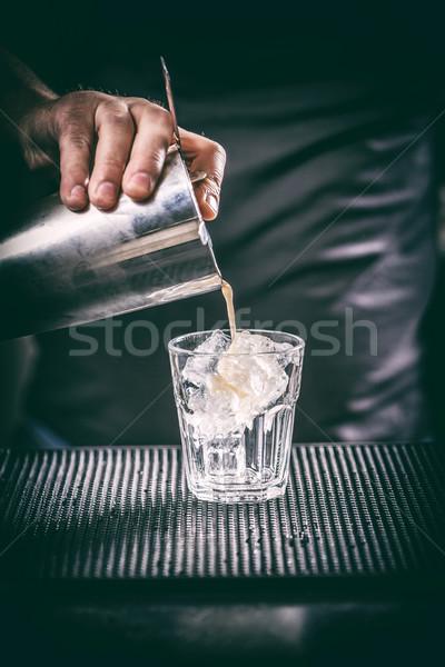 Barman hand with shake Stock photo © grafvision