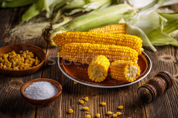 Boiled corn on the cob Stock photo © grafvision