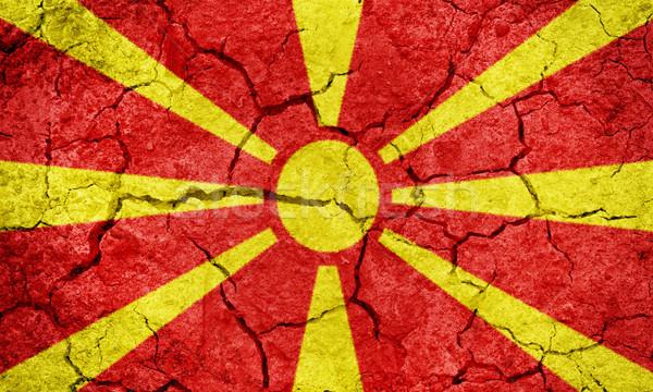 República Macedonia bandera secar tierra suelo Foto stock © grafvision